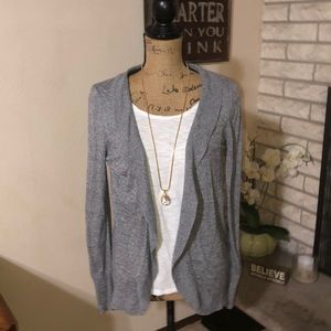Long Sleeve Gray Cardigan Sz Large